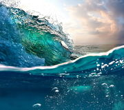 Wave. Sea water wave ocean sky blue Royalty Free Stock Images