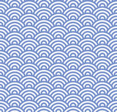 Wave Seamless Blue Pattern. Vector Stock Photos
