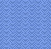 Wave Seamless Blue Pattern. Vector Stock Photo