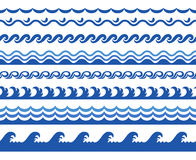 Wave seamless border Royalty Free Stock Photo