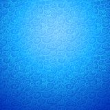 Wave seamless ornamental background in blue color Royalty Free Stock Images
