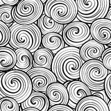 Wave seamless pattern. Abstract geometric tiled background. Blac Royalty Free Stock Photos