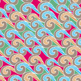 Wave seamless pattern background Royalty Free Stock Photos