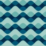 Wave seamless pattern Stock Images