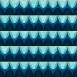 Wave seamless pattern with grunge effect Stock Images