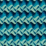 Wave seamless pattern with grunge effect Royalty Free Stock Photography