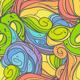 Wave seamless pattern. Hand drawn vector background Stock Photos
