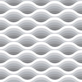 Wave seamless pattern. Vector white background of abstract waves in greyscale colors. Royalty Free Stock Images