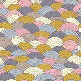 Wave Seamless Pattern. Vintage varicoloured background. Wave Seamless Pattern. Vintage varicoloured background Royalty Free Stock Image