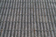 Wave Shaped Roof. A close up on a roof with a wave looking pattern Stock Photography