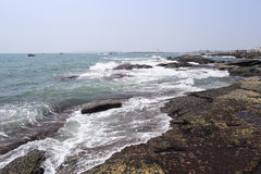 Wave shock reef Stock Photo