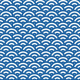 Wave simple seamless pattern Royalty Free Stock Photos