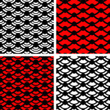Wave simple seamless patterns. Set of wave ornaments. Wave simple seamless patterns Royalty Free Stock Photography