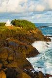 Wave som kraschar över Rockudden Dagoba Unawatuna Fotografering för Bildbyråer