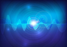 Wave sound  pulse abstract technology background Stock Photography