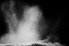 Wave splash. Ocean wave splash on rock Stock Images