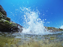 Wave splash Stock Photography