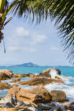 Wave splash at samui ,thailand Royalty Free Stock Photos