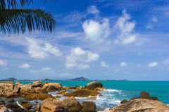 Wave splash at samui ,thailand Stock Photos