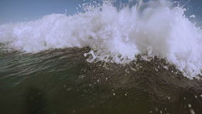 Wave splash slow motion. Video stock video footage