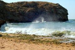 Wave splashes Stock Photo