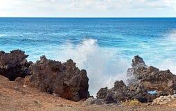 Wave splashes of Atlantic ocean Stock Photography