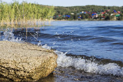 Wave splashes Stock Photos