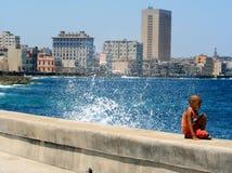 Havana, Cuba, Wave Royalty Free Stock Photography