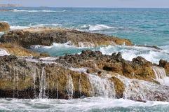 Wave splashing Stock Images