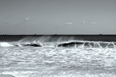 Wave Spray. A wave with spray on Fort Lauderdale Beach Stock Image