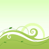 Wave  square. A background with wave and flourishes in ecological colours Royalty Free Stock Image