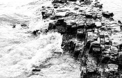Wave. Stone wave sea strong wind stroke water royalty free stock photos