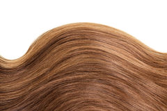 Wave straight healthy brown hair isolated on white Royalty Free Stock Image