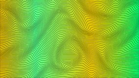 Green & yellow colorful curvy geometric lines wave pattern texture on colorful background. vector illustration