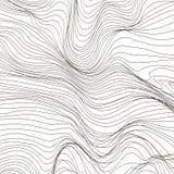Wave Stripe Background. Grunge Line Textured Pattern Royalty Free Stock Image