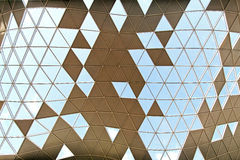 Wave structure. Architectural background of geometric ceiling structure wave Royalty Free Stock Photos