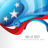 Wave style 4th of july Royalty Free Stock Image