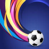 Wave style football design. Vector wave style football design Royalty Free Stock Photos