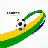 Wave style football. Vector design Stock Image