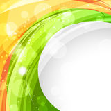 Wave style indian flag Royalty Free Stock Photos