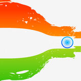 Wave style indian flag. Background Royalty Free Stock Image