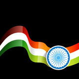 Wave style indian flag Royalty Free Stock Photo