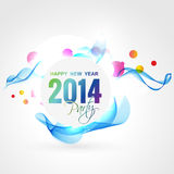 Wave style new year Royalty Free Stock Image
