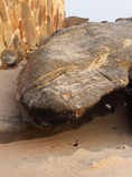 Wave sul roccioso e sulla spiaggia Fotografia Stock Libera da Diritti