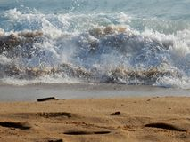 Wave sulla riva Immagine Stock Libera da Diritti
