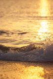 Wave with sun Royalty Free Stock Photo