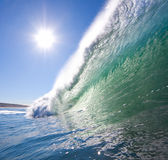 Wave with Sun Stock Photos