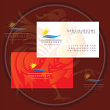 Wave and sun business card logo Royalty Free Stock Photo