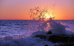Wave of sunset Royalty Free Stock Photography