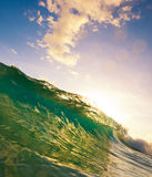 Wave Sunset. Beautiful ocean wave at sunset Royalty Free Stock Photography